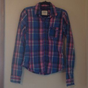 Abercrombie & Fitch Plaid Button Down Shirt Sz. S
